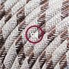 lino cotone corteccia stripes