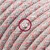 lino cotone rosa losanga