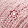 lino cotone rosa zig zag