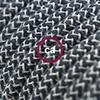 lino cotone antracite zig zag