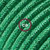 effetto seta verde glitter