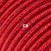 effetto seta rosso glitter