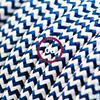 effetto seta blu zig zag