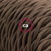 cotone marrone trecciato