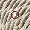 cotone tortora trecciato
