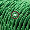 effetto seta verde trecciato