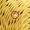 effetto seta giallo trecciato